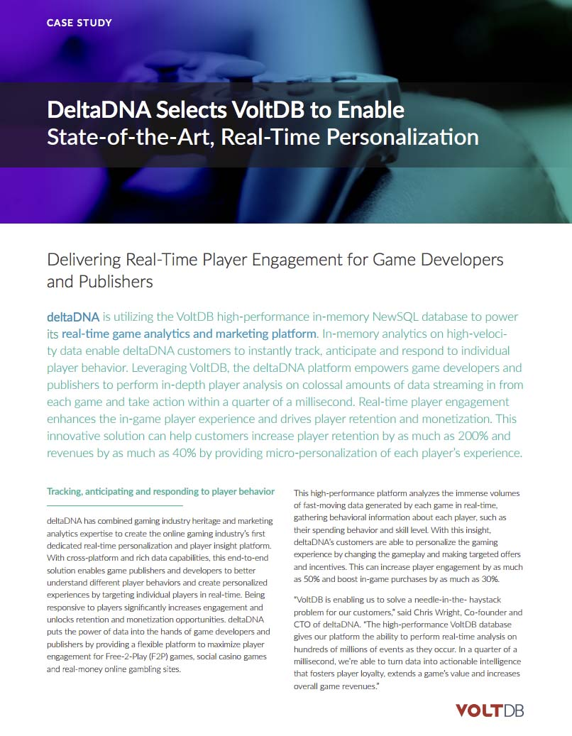 Case Study: DeltaDNA Brings Hyper-Personalization in Online Gaming