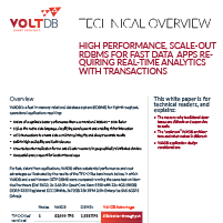 DS VoltDB Technical Overview