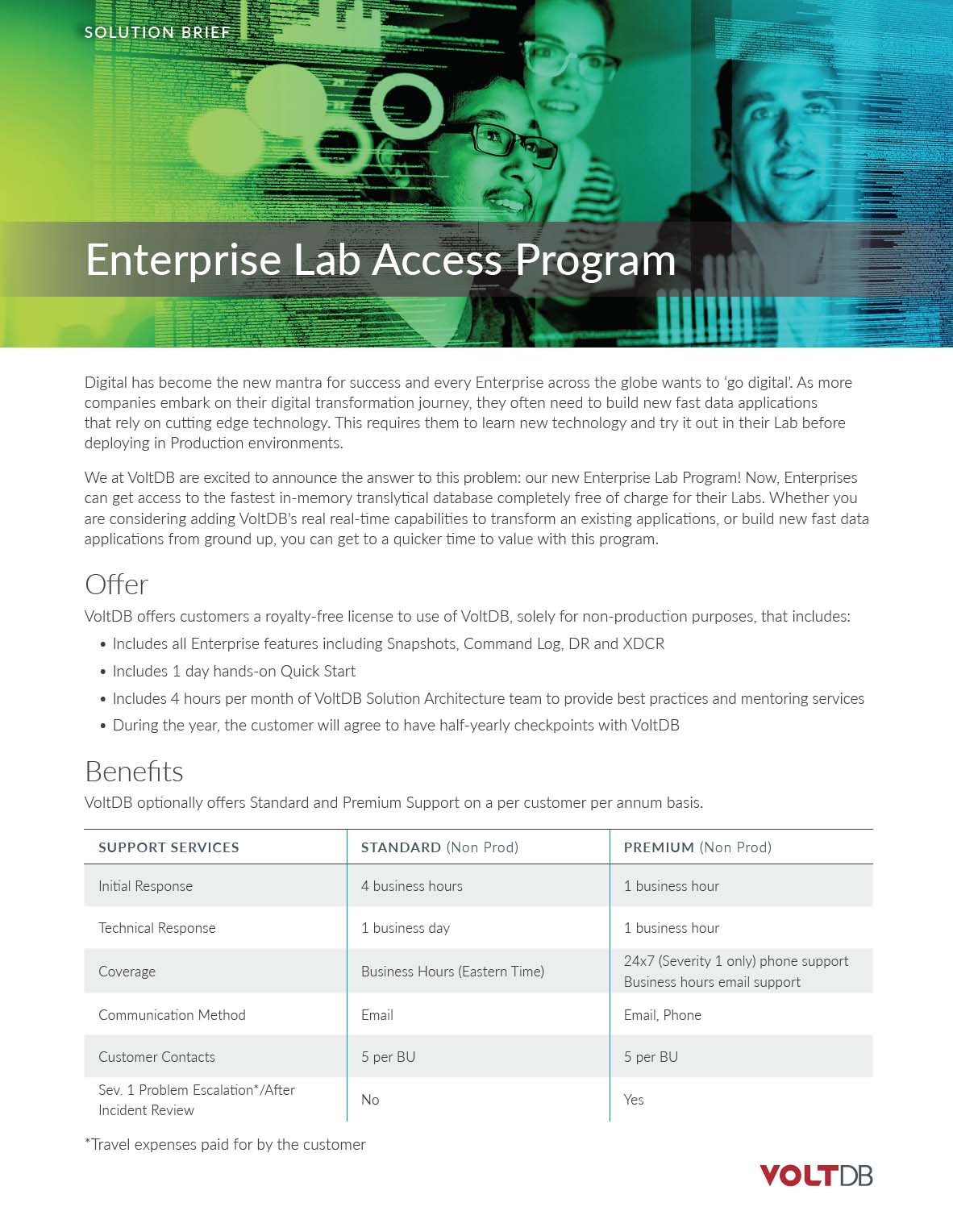 DataSheet: VoltDB Enterprise Lab Access Program