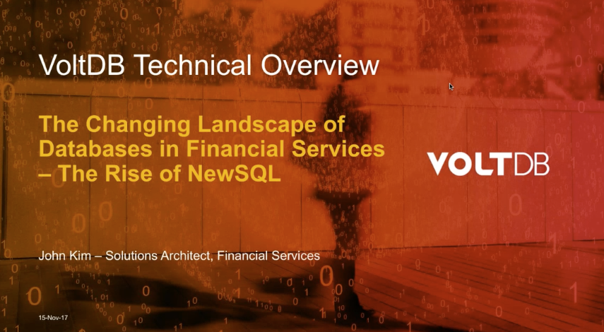 Preview Image: The Changing Landscape of Databases in Financial Services — The Rise of NewSQL