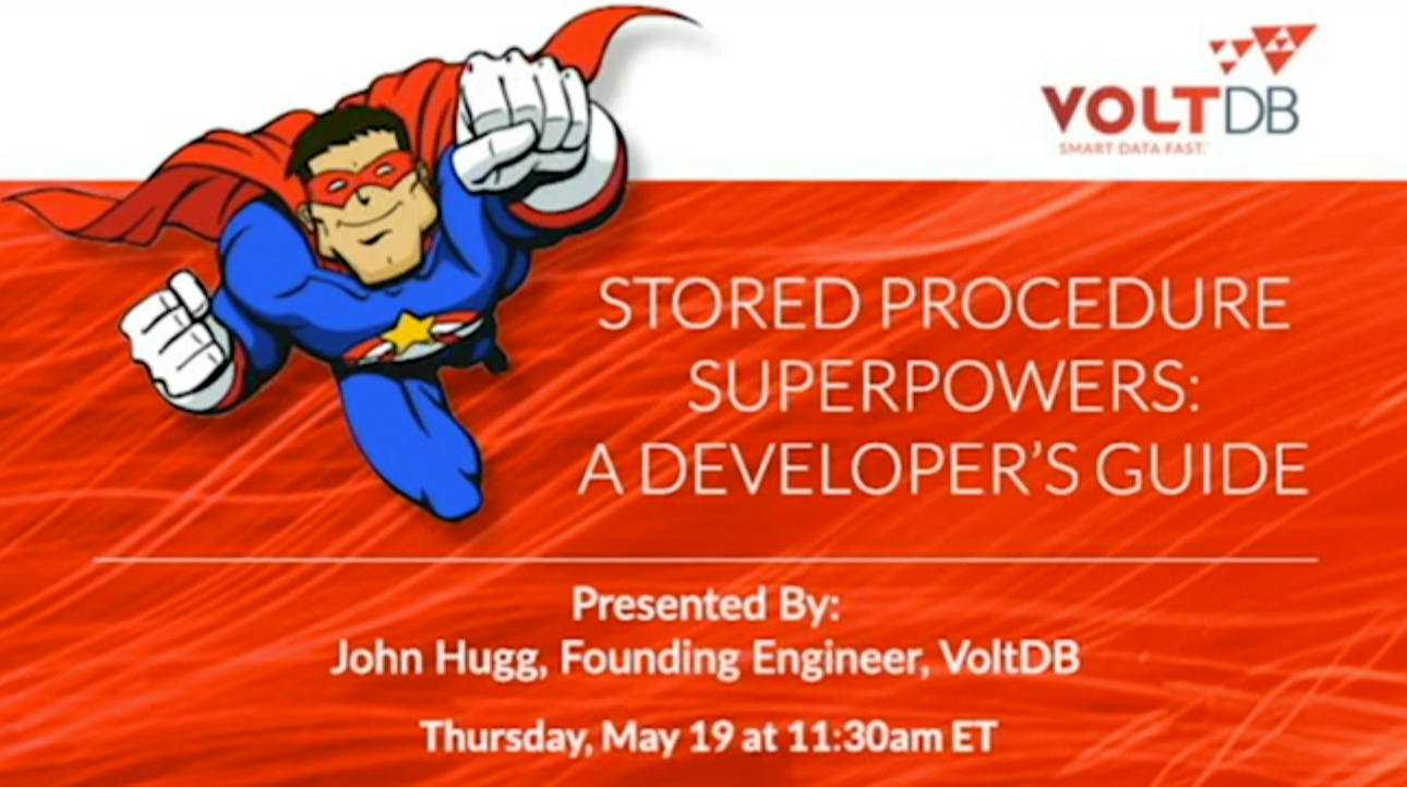 Developer resources voltdb pre recorded webinar stored procedure superpowers a developers guide sciox Images