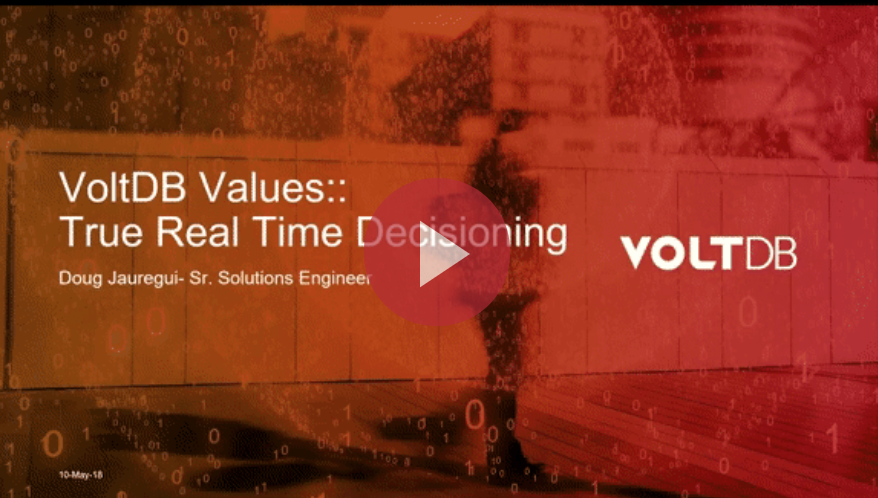 Webinar - Machine Learning for True RealTime Decisioning in FinServ