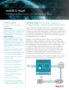 Solution Brief: MapR & VoltDB
