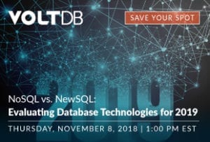VoltDB Evaluating Database Technology Webinar Event
