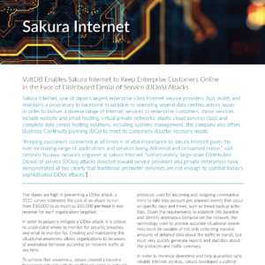 Sakura Internet is a VoltDB Customer