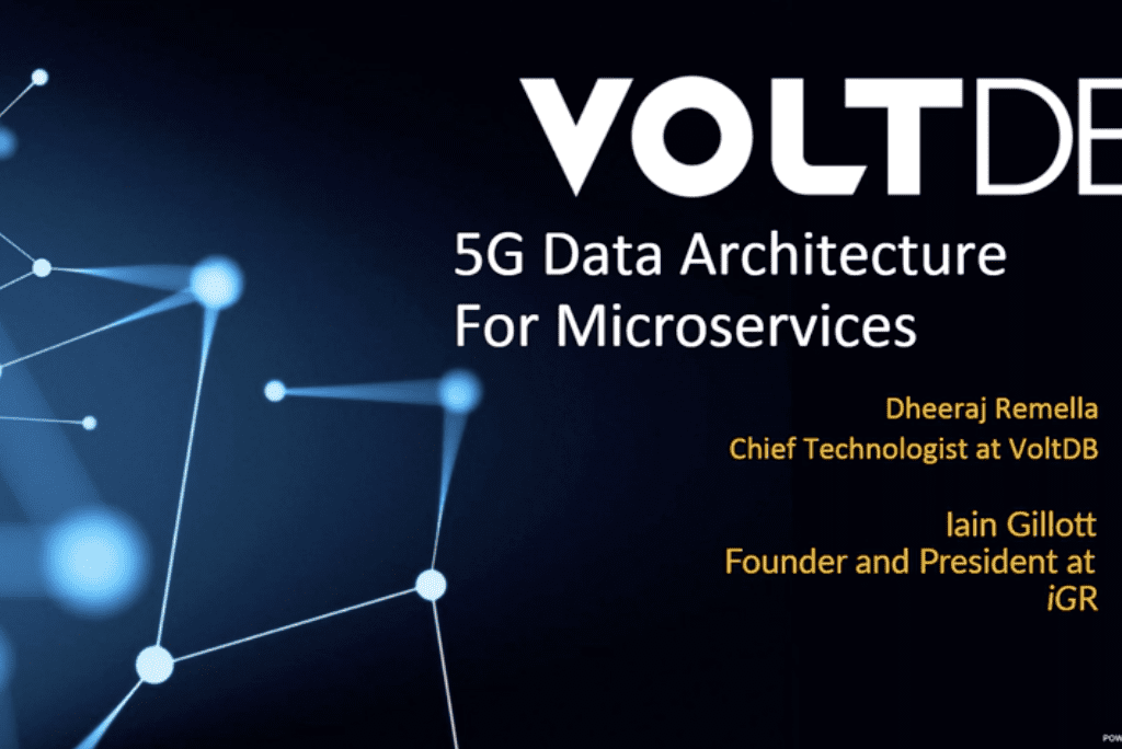Webinar: 5G Data Architecture for Microservices