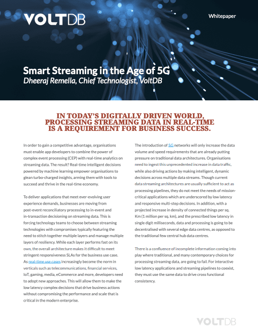 Whitepaper: Smart Streaming in the Age of 5G